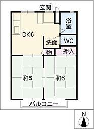 セントラルハイツ[1階]の間取り