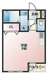ソフィア21新在家[1階]の間取り