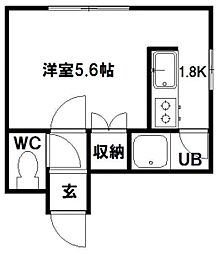 フォレストヒルズ東札幌[203号室]の間取り