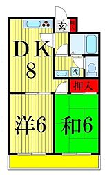 江藤マンション[402号室]の間取り