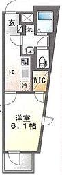 JR総武線 平井駅 徒歩6分の賃貸マンション 5階1Kの間取り