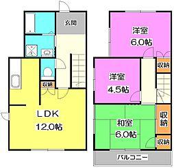 [テラスハウス] 東京都練馬区三原台1丁目 の賃貸【東京都 / 練馬区】の間取り
