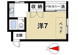 吉田ビル[4階]の間取り