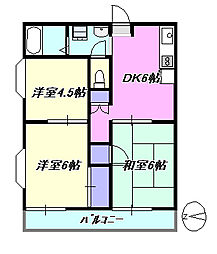 茅ヶ崎ドミール21[1階]の間取り