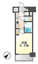 プレサンス名古屋STATIONビジュ[9階]の間取り