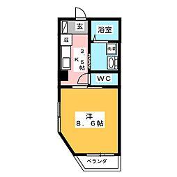 Kマンション[2階]の間取り