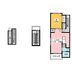 スイートピア[3階]の間取り