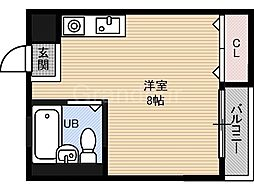 マンション吉見[4階]の間取り