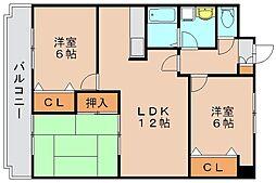 メゾンモンカップ[2階]の間取り