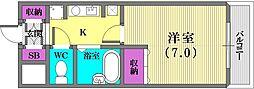 フローラル神戸[501号室]の間取り