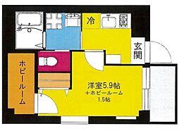 b'CASA YokohamaHigashi[4階]の間取り
