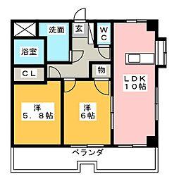 アベニュー21[6階]の間取り