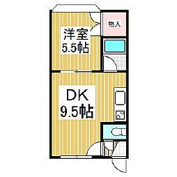 シエムI[3階]の間取り