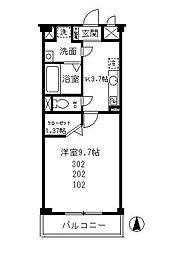 HF松戸[1階]の間取り