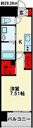 JR鹿児島本線 西小倉駅 徒歩10分の賃貸マンション 8階1Kの間取り