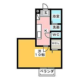 サウス ワイド プレイス[2階]の間取り