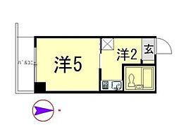 アサヒマンション[207号室]の間取り