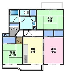 若葉台第1住宅[5階]の間取り