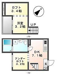 グレイスII[2階]の間取り