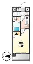 UURコート名古屋名駅[4階]の間取り