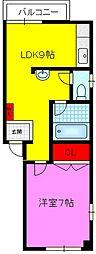 新鴻池マンション[2階]の間取り