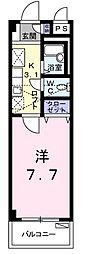 福岡県北九州市八幡西区引野2丁目の賃貸アパートの間取り