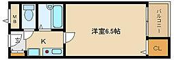 大阪府富田林市中野町3丁目の賃貸マンションの間取り