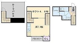 MAISONETIC34-倶楽部ハウスII[2階]の間取り