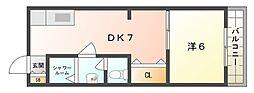 三幸マンション[4階]の間取り