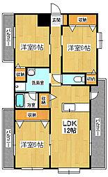 レアールマンションソレイユ[2階]の間取り