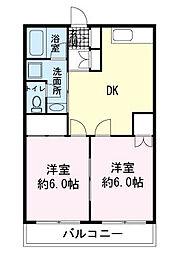 ヒルサイドテラス徳倉[1階]の間取り