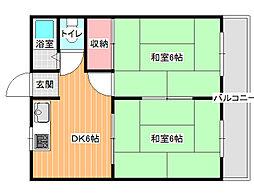 ニシグチマンション[2階]の間取り
