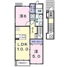 エアリーパーク神戸[203号室]の間取り