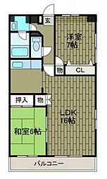 第5SKビル[11階]の間取り