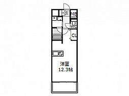 セレッソコート新大阪[4階]の間取り