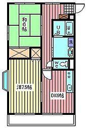 メゾンT−III[1階]の間取り