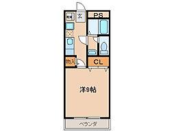 三重県津市島崎町の賃貸マンションの間取り