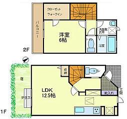 [タウンハウス] 東京都八王子市兵衛1丁目 の賃貸【/】の間取り