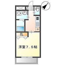沖縄都市モノレール 安里駅 徒歩10分の賃貸マンション 3階1Kの間取り