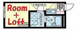 神奈川県横浜市保土ケ谷区和田1丁目の賃貸アパートの間取り