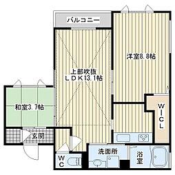アロサールアルデーア[2階]の間取り
