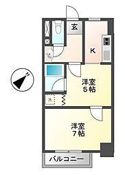 レジデンシア鶴舞(旧サンコート鶴舞[8階]の間取り