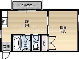 ラウンド2大儀[4階]の間取り