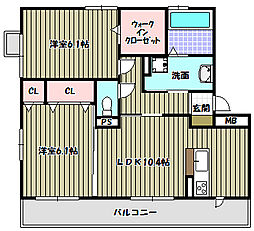 ボアソルテS A棟[2階]の間取り