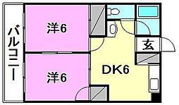DAKマンション山越[606 号室号室]の間取り
