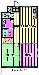 ミナモトマンション2[2階]の間取り