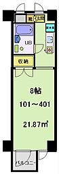 富士見マンション[403号室]の間取り