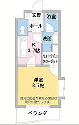 静岡県三島市青木の賃貸マンションの間取り