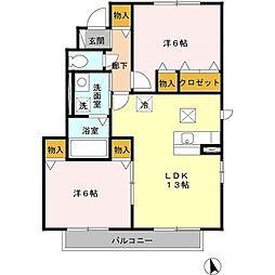 メゾンSoie[1階]の間取り