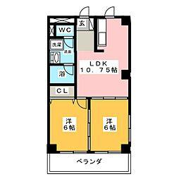 メゾン大橋III[2階]の間取り